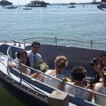 A wedding party heading to Pot Island.